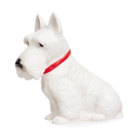 Heico children's lamp - white scottie dog with red collar