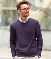 RUSSELL COLLECTION V NECK KNITTED PULLOVER