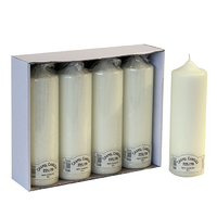225mm (9'') Chapel Candle Ivory 70mm Dia - 225/70