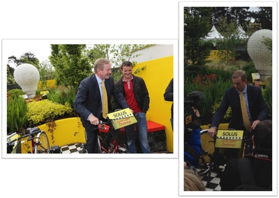 Solus welcomes An Taoiseach Enda Kenny as he raises €1,000 for Pieta House
