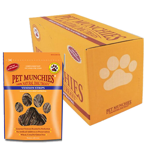 Pet Munchies Venison Strips 8 x 75g