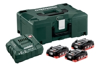 Metabo Battery Set 3 x 4.0Ah Li-HD & Charger