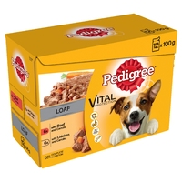 Pedigree Pouches Adult Mixed Selection in Loaf 100g 12-pack x 4