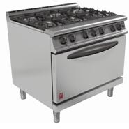 Falcon G3101D 6 Burner Gas Oven Range Drop Down Door