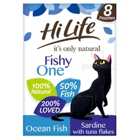 HiLife 'ION' Cat Pouch Complete - The Fishy One in Jelly 70g 8pk x 4