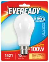 EVEREADY 14W (100W) B22 LED GLS 1521 LUMENS