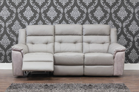 Lucca Taupe Grey Leather Sofa