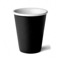Coastal Single Wall Cup Black Ctn 1000