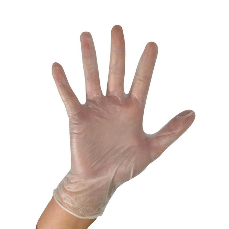 Vinyl Powder Free Glove Clear AQL 1.5 Small