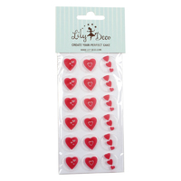 98250- CHOCOLATE TRANSFER HEARTS 2.5CM
