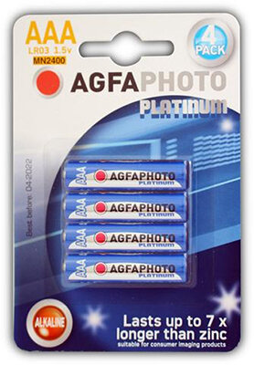 AgfaPhoto Digital Alkaline Battery AAA Card 4