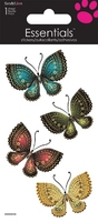 >< Decorative Butterflies Essential Craft Sticker.