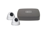 IC Realtime Wave 4 Channel 1TB DVR and 2 x C2Max 2MP Fixed 2.8mm IR White Dome Cameras