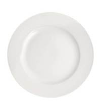 "Pure White Wide Rim Plate 10""(25cm)"