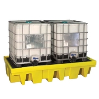 IBC Spill Pallet for 2 x 1000 l IBC with removable deck