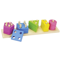 Wooden toddler game - sort, stack and count