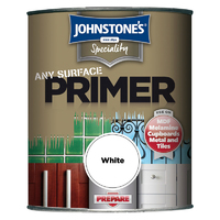 JOHNSTONES ANY SURFACE PRIMER WHITE 750 ML