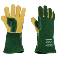 Green Welder Gauntlet Kevlar-Stitched