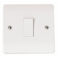 Click Mode 1 Gang 2 Way 10A Plate Switch
