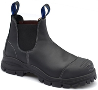Blundstone 990 Nitrile Sole 300°C Slip On Safety Boot With Scuff Cap Black
