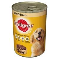 Pedigree Cans Adult Chicken in Gravy 400g x 12pk