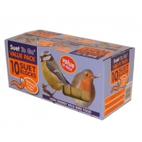 Suet to Go Suet Block Multipack 10-Pack Mealworm & Insect 300g