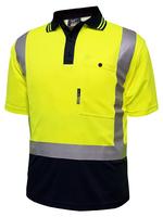 Techni Vision Hi Vis Day/Night Polyester Short Sleeve Polo
