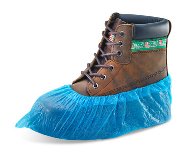 """Blue Disposable 16"""" Booties (Case of 2000)"""