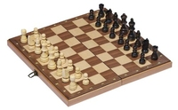 Wooden Chess Set in a Hinged Case
