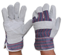 Pro Candy Stripe Leather/Cotton Glove