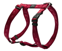 "Rogz Alpinist Red XL (Everest) H-Harness 24"" - 39"" x 1"