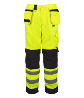PCYMTR Builder Two-Tone Hi-Vis Trousers Yellow/ Black