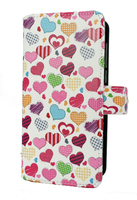 FOLIO1291 Huawei Y6 2017 Candy Hearts