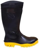 Stimela Black Nitrile Mix Safety Gumboot Black