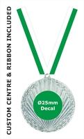 50mm Medal / CUSTOM Centre & GREE Ribbon (S)