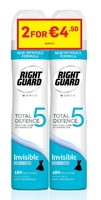 Right Guard Total Defence 5 Women Invisible Aerosol 250ml Banded Pack