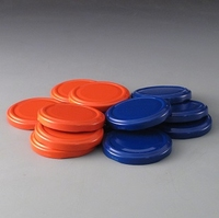 63mm Blue & Red Caps