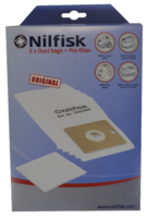 Nilfisk Dust Bags Compact Coupe Neo Go One 5 Pack Plus Pre-filter
