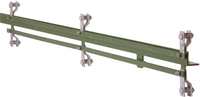 2.10M Green 50 x 50 x 6mm A/Iron 2 Way For 1500mm Fence