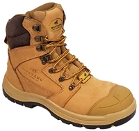 Mustang 7120 Nitrile Sole 300°C Lace Up Safety Boot with Scuff Cap Wheat