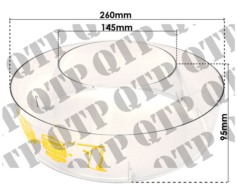 Pre Cleaner Glass Ford 7000 7600 - Quality Tractor Parts LTD