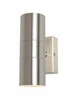 LETO UP & DOWN STAINLESS STEEL IP44 Lamp:  2 x GU10 (Not Included)