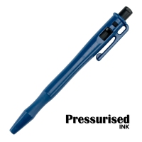 Detectable Retractable Pressurised Pen - c/w Pocket Clip and Lanyard Loop