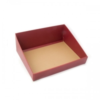 BOX TRAY BURGUNDY H/BACK 400X320X150MM