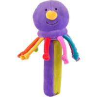 Purple octopus Squeakaboo toy for babies