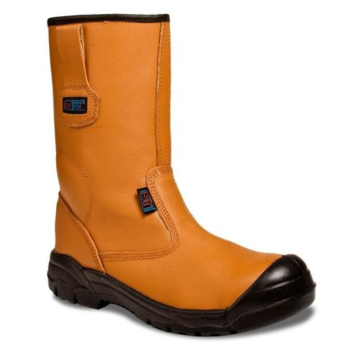 b8dd01f52631 Tan Leather Rigger Boots - PJD Safety Supplies