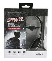 GV897BOX/BL Streetz Headphones in Black