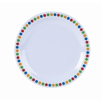 Plate Melamine Coloured Circles 16cm Carton of 12
