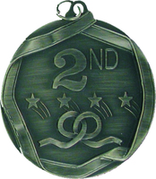 60mm 2nd Place Medallion (Antique Silver)