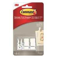 Command White Spring Clip Small 3pk - 17089Q-ES